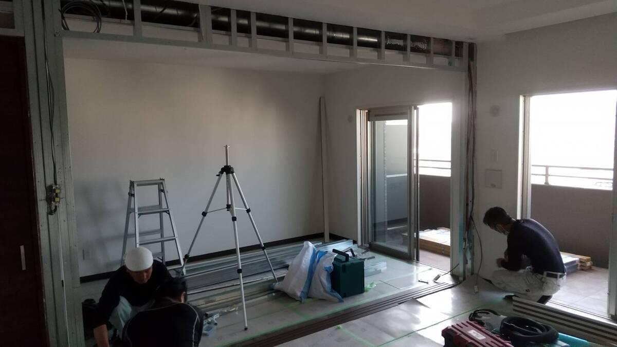 建具施工途中